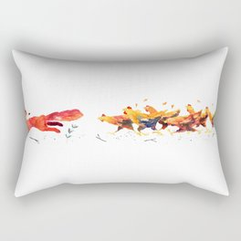 Angry Chickens Rectangular Pillow