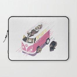 Hippie pink bus Laptop Sleeve