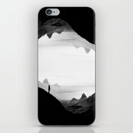 black wasteland isolation iPhone Skin