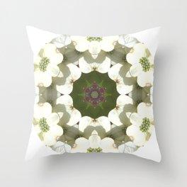 Dogwood Mandala Throw Pillow