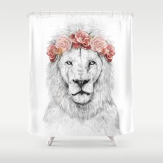 Festival lion Shower Curtain