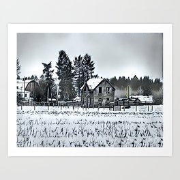A Hazy Shade Of Winter  - Graphic 3 Art Print