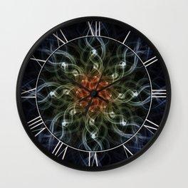 Smoky pattern I Wall Clock