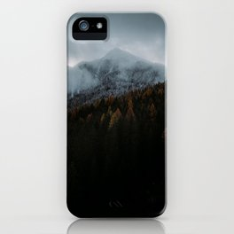 Blue Autumn in The Mountains iPhone Case