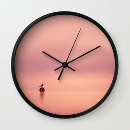 Empty Spaces (Gull atunrise) Wall Clock