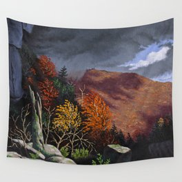Passing storm, Thacher Park, Albany Wall Tapestry