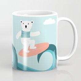Polar bear surfing. Coffee Mug