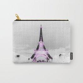 pariS Black & White + Lavender Carry-All Pouch