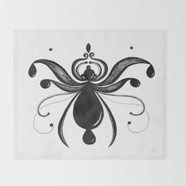 Wispy Bug Drops Throw Blanket