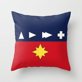 Higher Further Faster More Throw Pillow