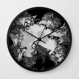 Moon Eaters Wall Clock