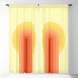 Retro style sunrise Blackout Curtain