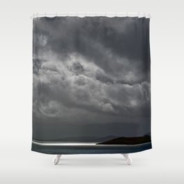 Cloudy island Shower Curtain