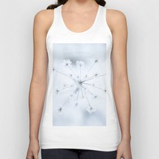 Beautiful Dry Flower with Ice Crystals Unisex Tank Top