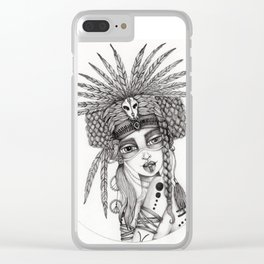 JennyMannoArt Graphite Drawing/Aiyana Clear iPhone Case