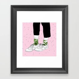 Starry Shoes Framed Art Print
