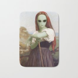 Bouguereau's Alien Shepherdess Bath Mat