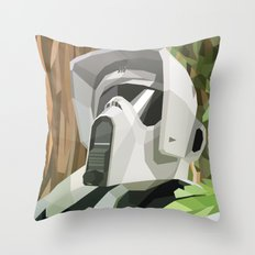 Scout Trooper Throw Pillow