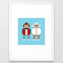 Marty and Doc / Back to the Future Framed Art Print