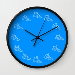 Air Jordan Sneaker Wall Clock - Blue Wall Clock
