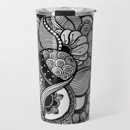 Doodling Florals  Travel Mug