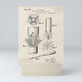 Screwdriver Vintage Patent Hand Drawing Mini Art Print
