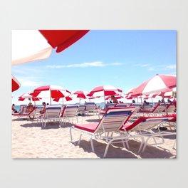 South Beach Umbrellas Canvas Print