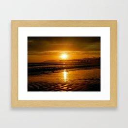 Pismo Beach Sunset Framed Art Print