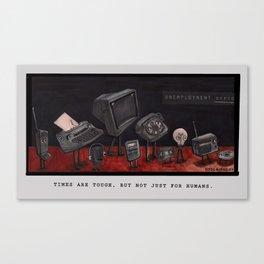 Unemployment Line. Canvas Print