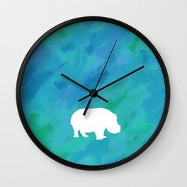 hippo cutout Wall Clock