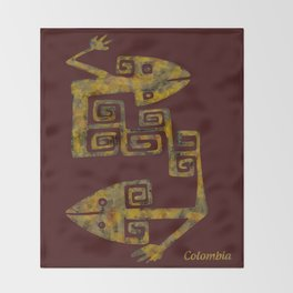 Colombian culture Throw Blanket