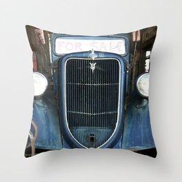 Antique Truck Show Throw Pillow
