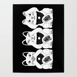 Three Smart Cats Poster