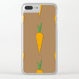 Gardener's Delight | Carrots Clear iPhone Case