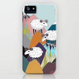 Clouds and Sheep iPhone Case