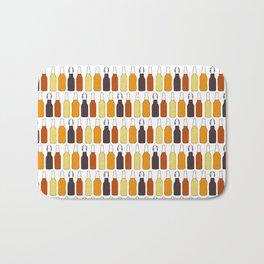 Vintage Beer Bottles Bath Mat