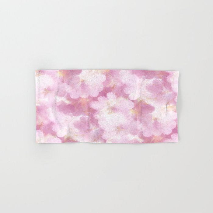 Painted Flowers Abstract Hand & Bath Towel