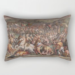 Classic Art The battle of Marciano in Val di Chiana By Giorgio Vasari Rectangular Pillow