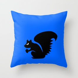 Angry Animals: Squirrel Throw Pillow
