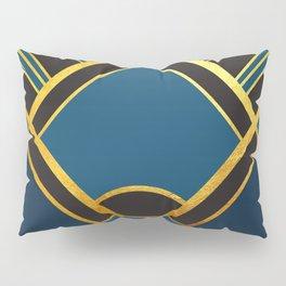 Art Deco New Tomorrow In Blue Pillow Sham