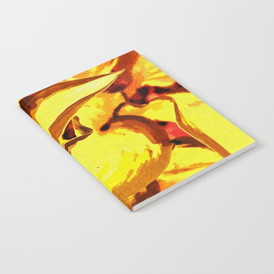 Sunset Foliage Abstract Notebook