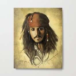 Portrait of a pirate Metal Print