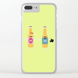 Wedding Beerbottle couple T-Shirt Dn4bx Clear iPhone Case