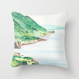 Cabot Trail watercolour Throw Pillow