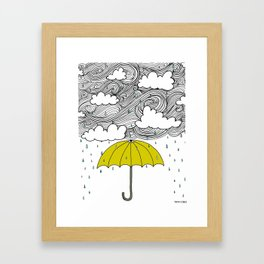 The Yellow Umbrella Framed Art Print