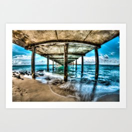 Makai Pier Art Print
