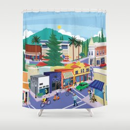 Town of Los Gatos (A Day in the Life) Shower Curtain