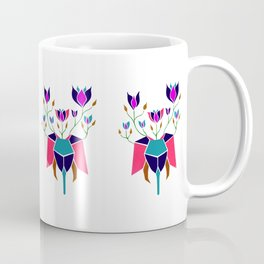 Elephant with Flowers Gold Pink Green Blue and Magenta Coffee Mug