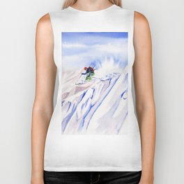 Powder Skiing Biker Tank