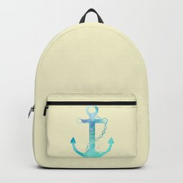 AFE Watercolor Ship Anchor Backpack